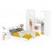 Гарнитур спальный Камелия № 9 Кровать с ящиками 1600 цвет белый