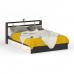 Гарнитур спальный Камелия № 9 Кровать с ящиками 1600 цвет венге/дуб лоредо
