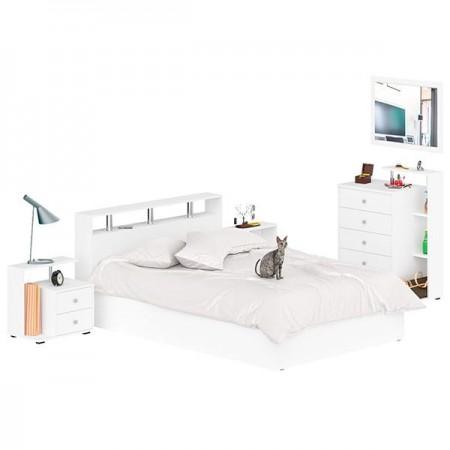 Спальный гарнитур Камелия № 5 цвет белый