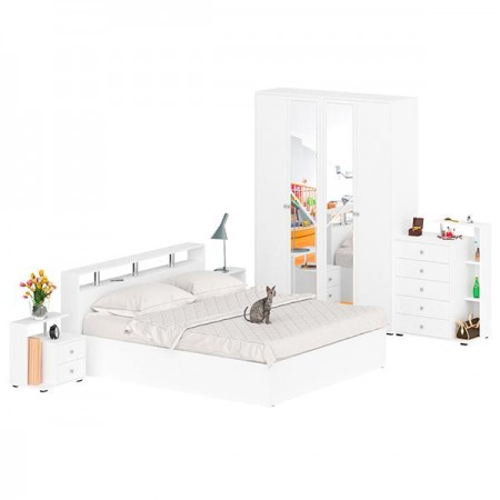 Гарнитур спальный Камелия № 4 цвет белый
