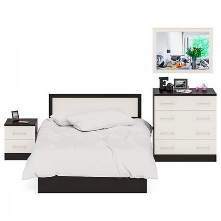 Спальный гарнитур Фиеста Кровать 1200 + Тумба + Комод + Зеркало