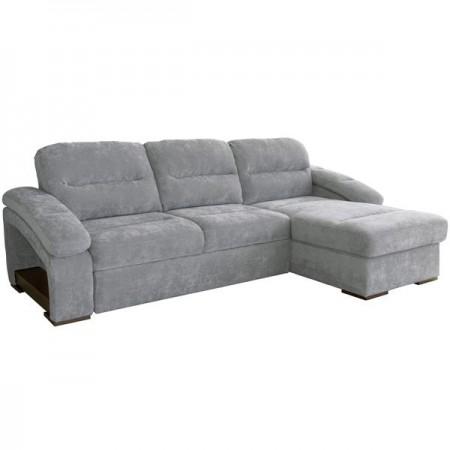 Диван-кровать угловой Рокси-1 ткань 40431 энерджи грей 18 серебристый серый