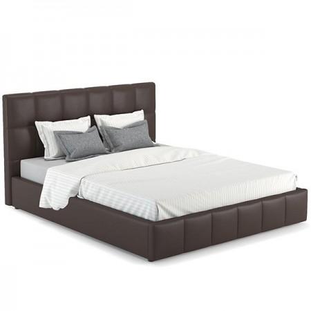 Кровать интерьерная шоколад темно-коричневый