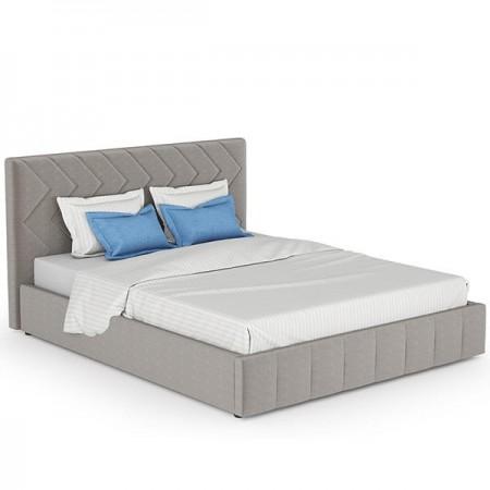 Двухместная Кровать Велюр Лекко фог светлый кварцевый серый
