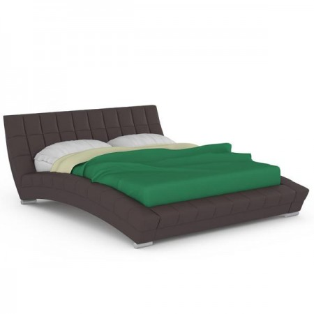 Кровать Оливия с основанием искусственная кожа шоколад