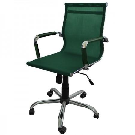 Металлические компьютерное Кресло Барбара Стиль 2Х (КЛ2005), сетка зелёная