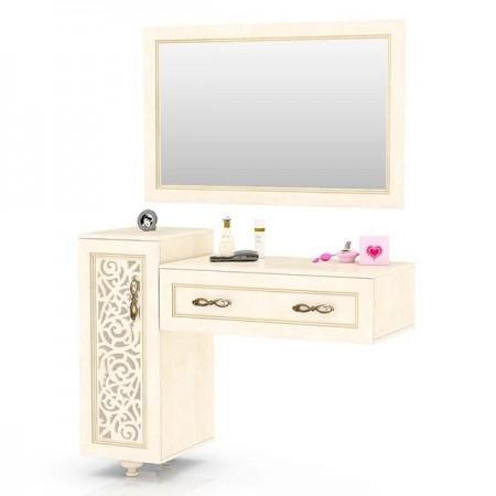 Александрия ЛД-625-110+120 Стол туалетный + Зеркало настенное