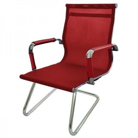 Металлические компьютерное Кресло Барбара Стиль 2ХС (КЗ КРАСН), сетка красная