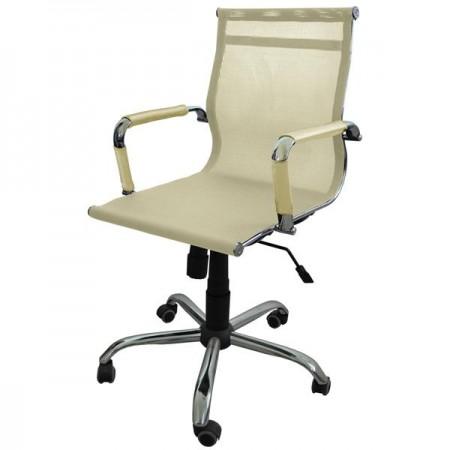 Металлические компьютерное Металлическое компьютерное кресло Барбара Стиль 2Х (КЛ 3037), сетка бежевая