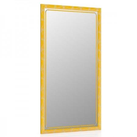 Зеркало 45х85 см., цвет ольха, орнамент цветок