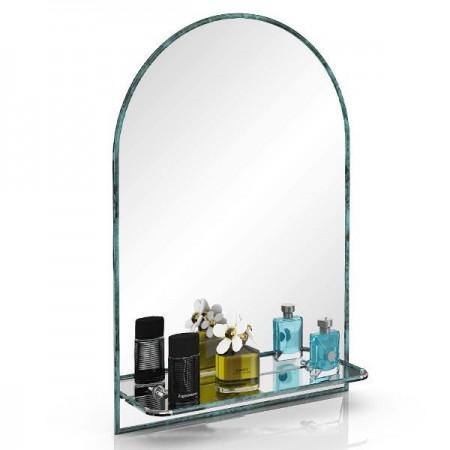 Зеркало 55х80 см. с полочкой 330ПМ малахит