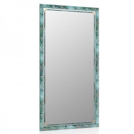 Зеркало 45х85 см., цвет малахит, орнамент цветок