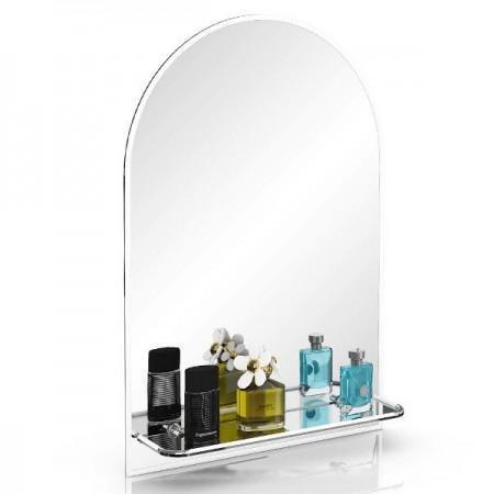 Зеркало 55х80 см. с полочкой 330ПМ белый