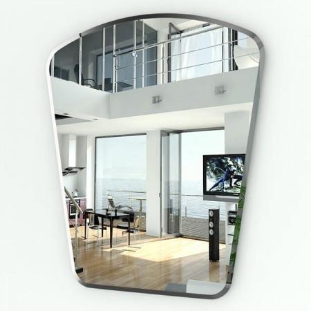 Зеркало в виде сегмента с фацетом 052Ф 54/70х85 см.