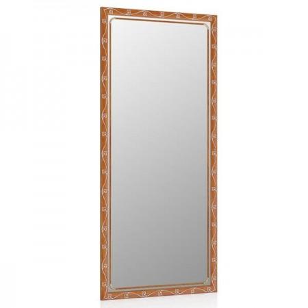 Зеркало в прихожую 119С орех Т 2, орнамент цветок