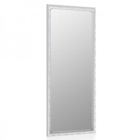 Высокое зеркало в прихожую 50х120 см. металлик, орнамент цветок