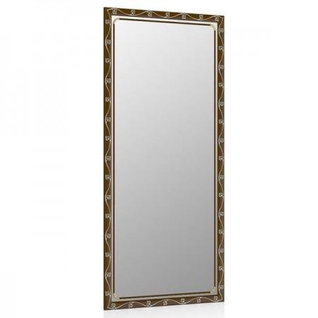 Зеркало 119С тосканский орех, орнамент цветок