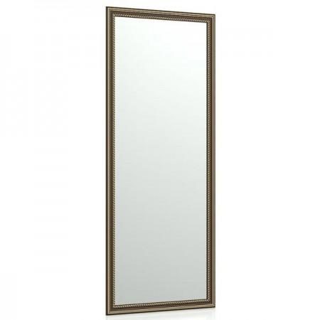 Зеркало в прихожую 120 40х100 см. рама коричневая косичка
