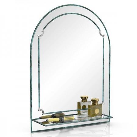 Зеркало 331Д малахит, ШхВ 60х80 см., с полкой