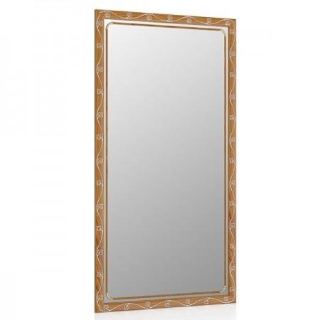 Зеркало 45х85 см., цвет тёмный орех, орнамент цветок