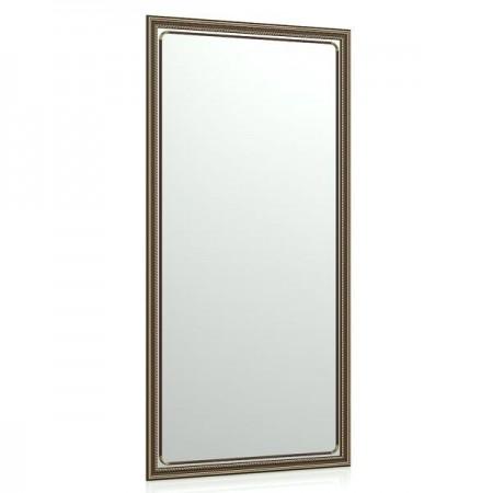 Зеркало в прихожую 121Б 60х120 см. рама коричневая косичка