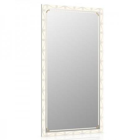 Зеркало 45х85 см., цвет белый, орнамент цветок