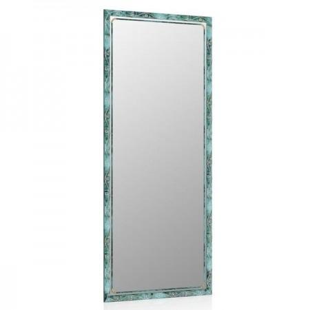Высокое зеркало в прихожую 50х120 см. малахит, орнамент цветок