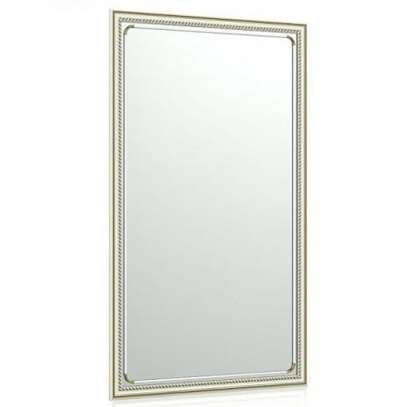 Зеркало в раме 121С 55х95 см. рама белая косичка