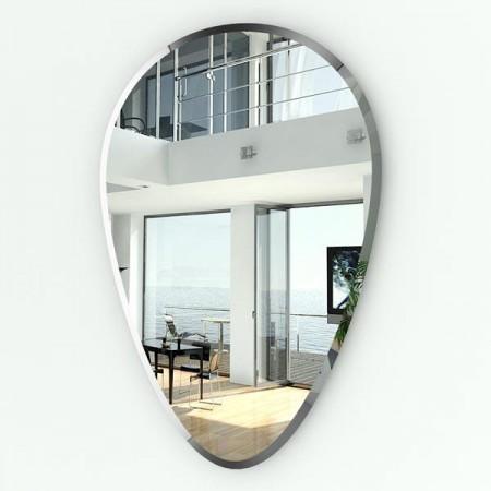 Зеркало в виде перевёрнутой капли с фацетом 062Ф 50х75 см.