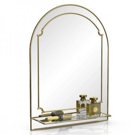 Зеркало 331Д золото, ШхВ 60х80 см., с полкой