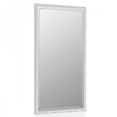 Зеркало 45х85 см., цвет металлик, орнамент цветок