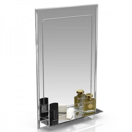 Зеркало 124Д серебро куб серебро, ШхВ 50х80 см.