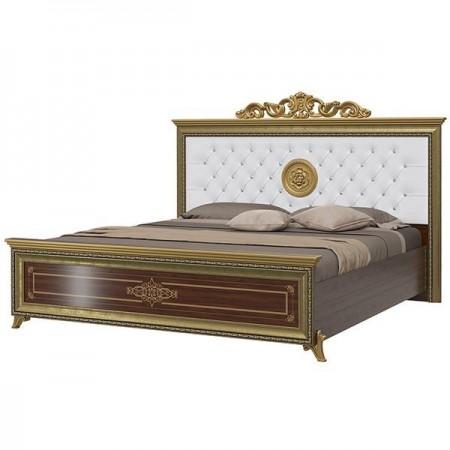 Версаль орех тайский Кровать 1800 с короной мягкое изголовье