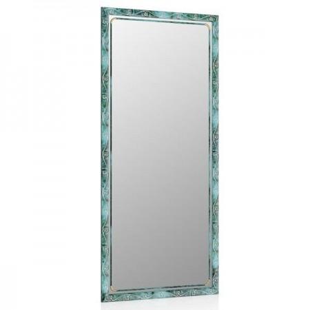 Зеркало 119С малахит, орнамент цветок