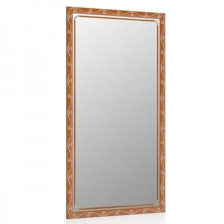 Зеркало 45х85 см., цвет орех Т2, орнамент цветок