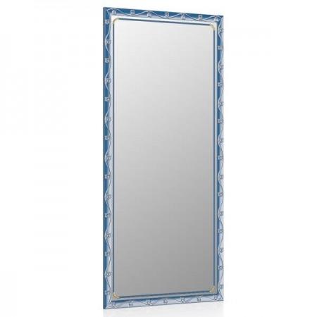 Зеркало 119С синий металлик, орнамент цветок