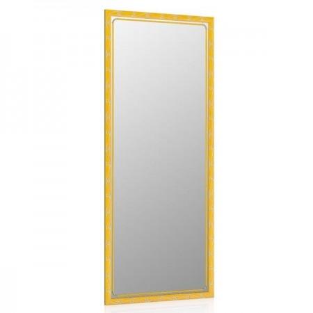 Высокое зеркало в прихожую 50х120 см. ольха, орнамент цветок