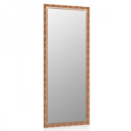 Высокое зеркало в прихожую 50х120 см. орех Т2, орнамент цветок