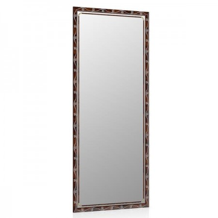 Высокое зеркало в прихожую 50х120 см. корень, орнамент цветок