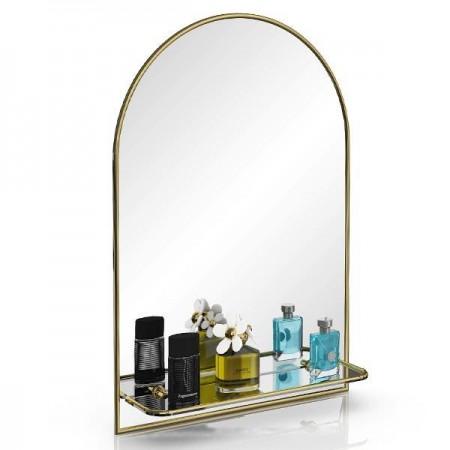 Зеркало 55х80 см. с полочкой 330ПМ золото