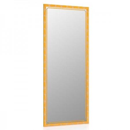 Высокое зеркало в прихожую 50х120 см. вишня, орнамент цветок