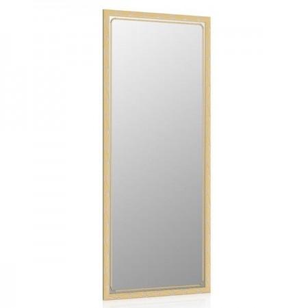 Высокое зеркало в прихожую 50х120 см. орех, орнамент цветок