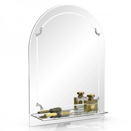 Зеркало 331Д белый, ШхВ 60х80 см., с полкой