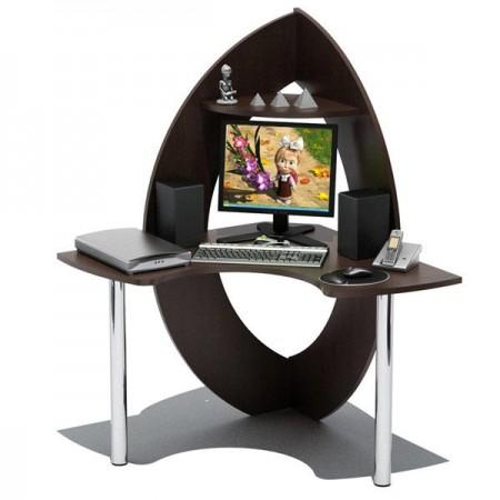 Угловой игровой компьютерный стол КСТ-101 цвет дуб венге