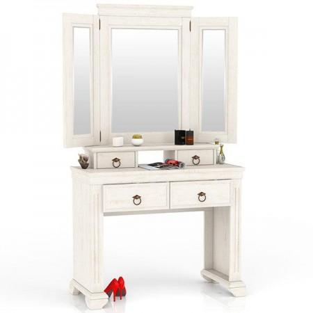 Амели ЛД-642-350+360 Стол туалетный + зеркало