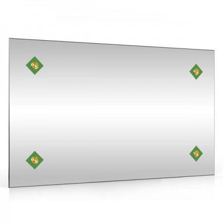 Зеркало 45х75 см. 402С-4 ромбик зелёный