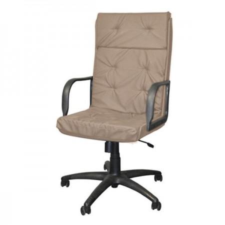 Директорское кресло Маклер 1П эко-кожа, цвет бежевый, высокая спинка