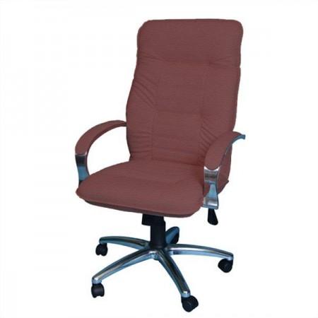 Кресло Астро 1Х хромированное эко-кожа, цвет бордовый