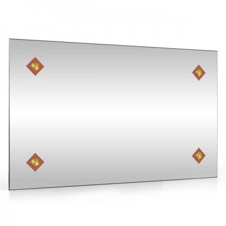 Зеркало 45х75 см. 402С-4 ромбик коричневый