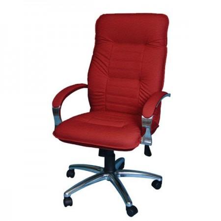 Кресло Астро 1Х хромированное эко-кожа, цвет красный